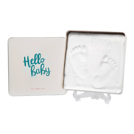 Baby Art Gipsabdruck Set Dose - Magic Box, eckig, Essentials Türkis
