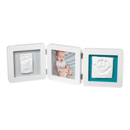 Baby Art Cadre photo avec impression - My Baby Touch Double Print Frame White essentials