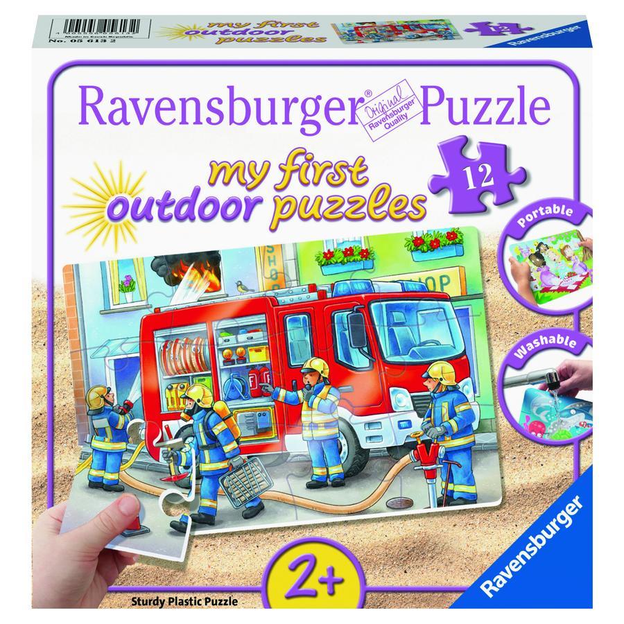 Ravensburger Il mio first outdoor puzzle - I vigili del fuoco sta correndo in