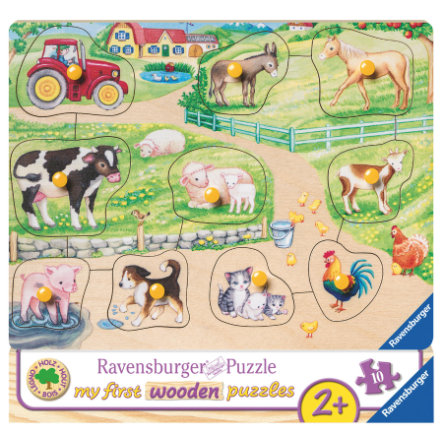 Ravensburger Moje první dřevěná skládačka - Ráno na farmě