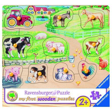 Ravensburger My first wooden puzzle - Morgens auf dem Bauernhof