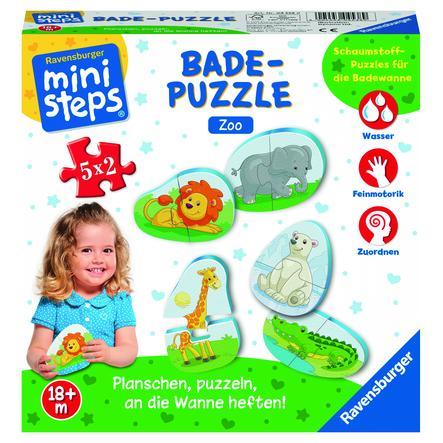 Ravensburger mini trinn ® Bathing Puzzle Zoo
