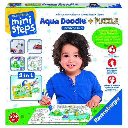 Ravensburger ministeps® Aqua Doodle® Puzzle: Heimische Tiere