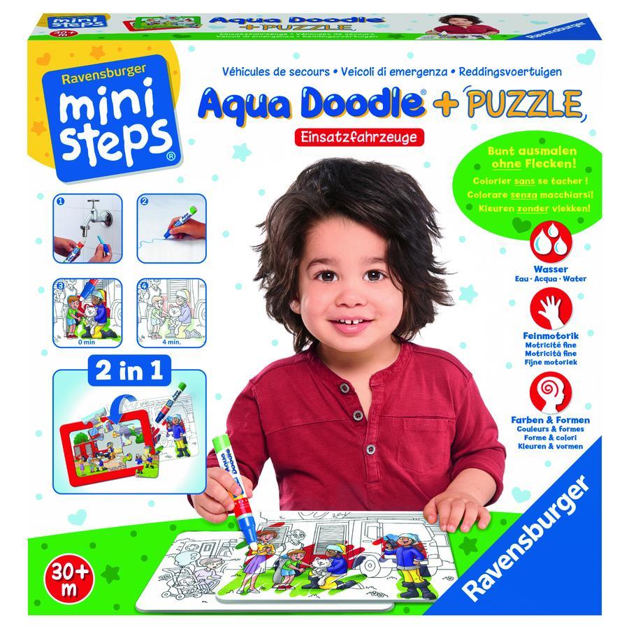 Ravensburger minis teps® Aqua Doodle ® Puzzle : Véhicules d'urgence