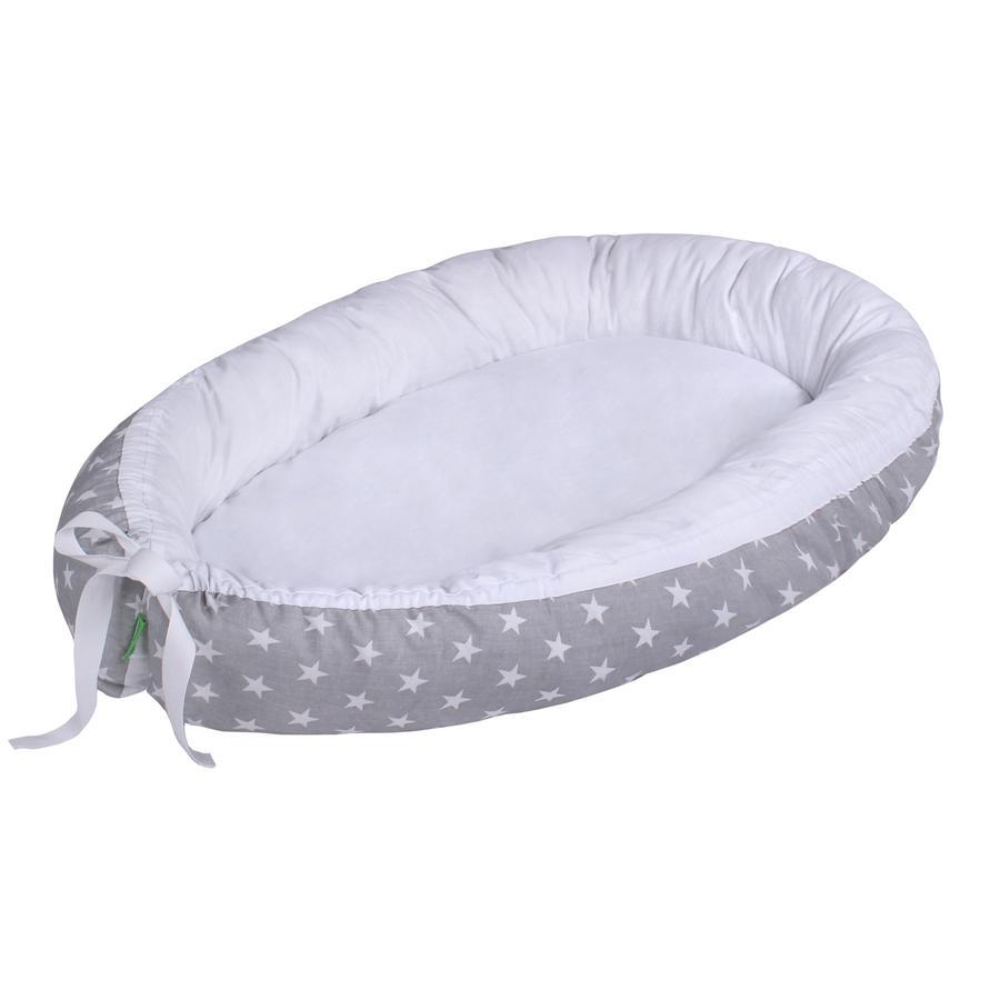 LULANDO Babynest multifunktional Sternchen grau/weiß