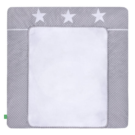 LULANDO Fasciatoio con 2 copertine a pois stelle grigie 76 x 76 cm