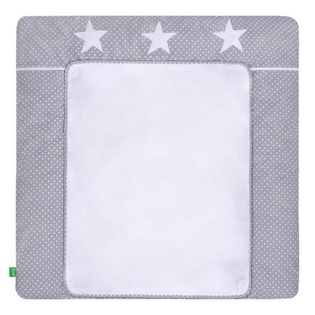 LULANDO pusleunderlag med 2 betræk prikker grå stjerner 76 x 76 cm
