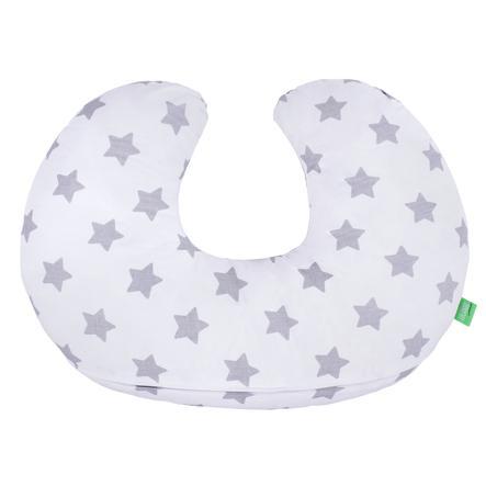 LULANDO Stillkissen Sterne weiß 55 x 42 cm