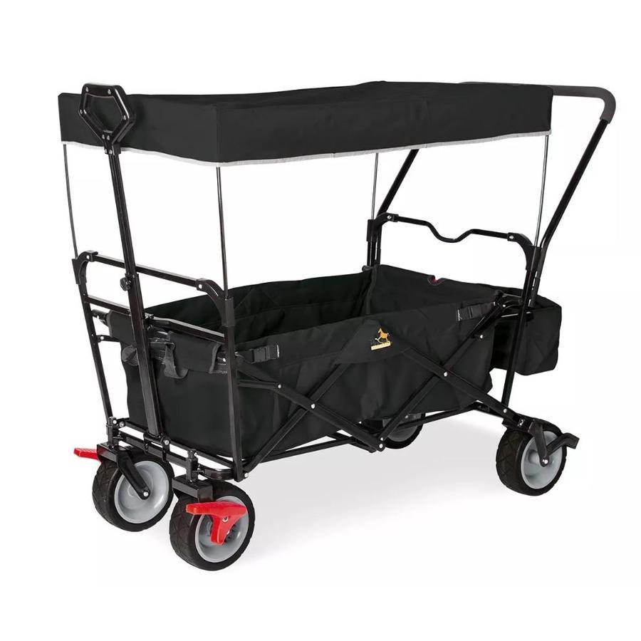 Pinolino Chariot de transport à main enfant pliable Paxi dlx Comfort, toit noir