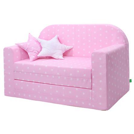 LULANDO Lasten sohva Classic vaaleanpunainen