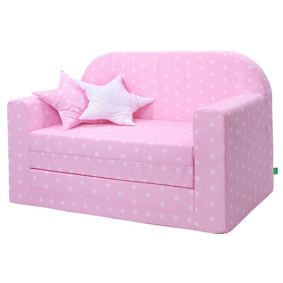 LULANDO Classic Kindersofa, rosa