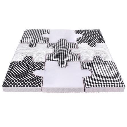LULANDO Tappetino Puzzle , 9 elementi, bianco/nero