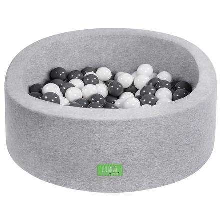 LULANDO Bällepool für Kinder, grau