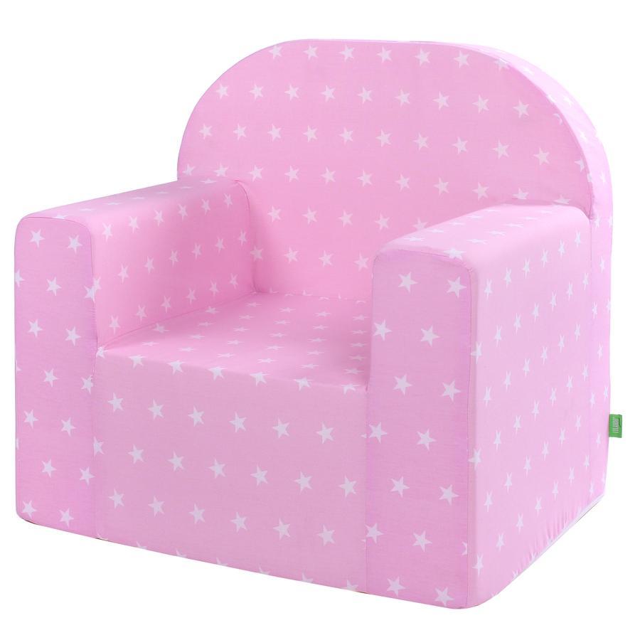LULANDO Classic Seggiolone per bambini stella, rosa
