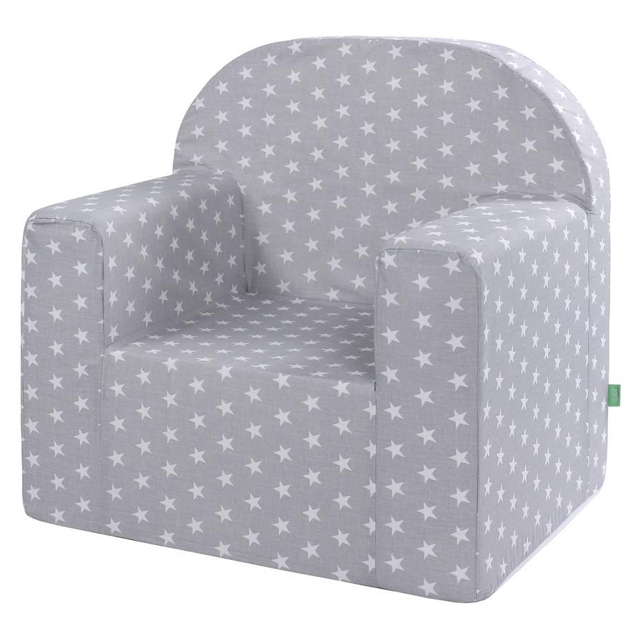 LULANDO Star ic dětská židlička hvězdná, šedá