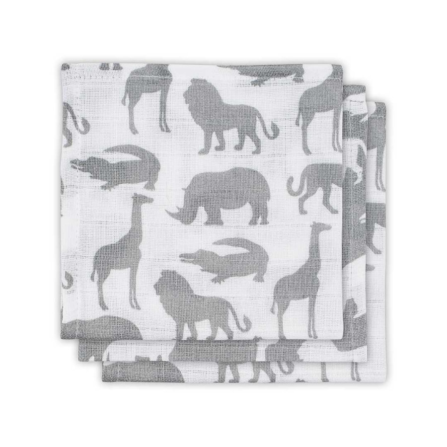 jollein Mundtuch 3er-Pack Safari Stone Grey