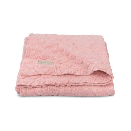 jollein Stickad filt Fancy Knit Blush Pink 75x100cm