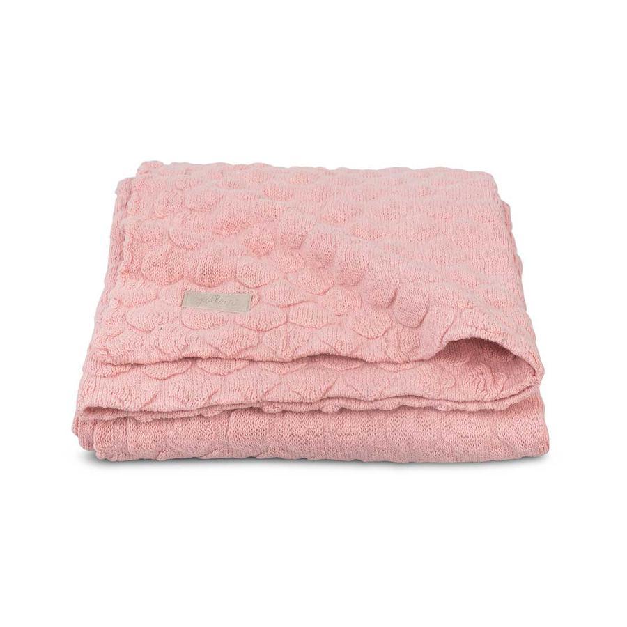 jollein Pletená přikrývka Fancy Knit Blush Pink 75x100cm