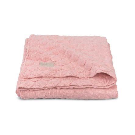 jollein Strikket tæppe Fancy Knit Blush Pink 100x150cm