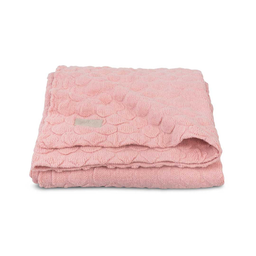 jollein Strikket tæppe Fancy Knit Blush Pink 100x150cm