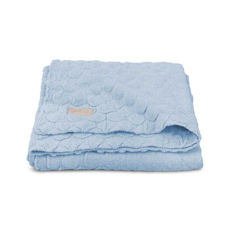 jollein Neulottu viltti Fancy Knit Baby Blue 100x150cm