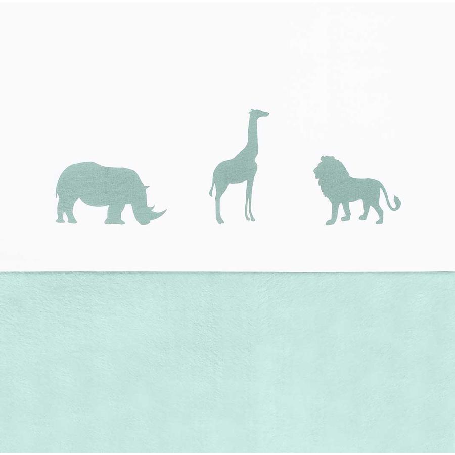 jollein Drap enfant Safari Forest green 75x100 cm
