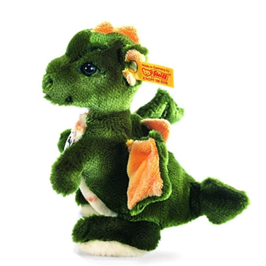 STEIFF Dragon garçon Raudi vert 17 cm debout