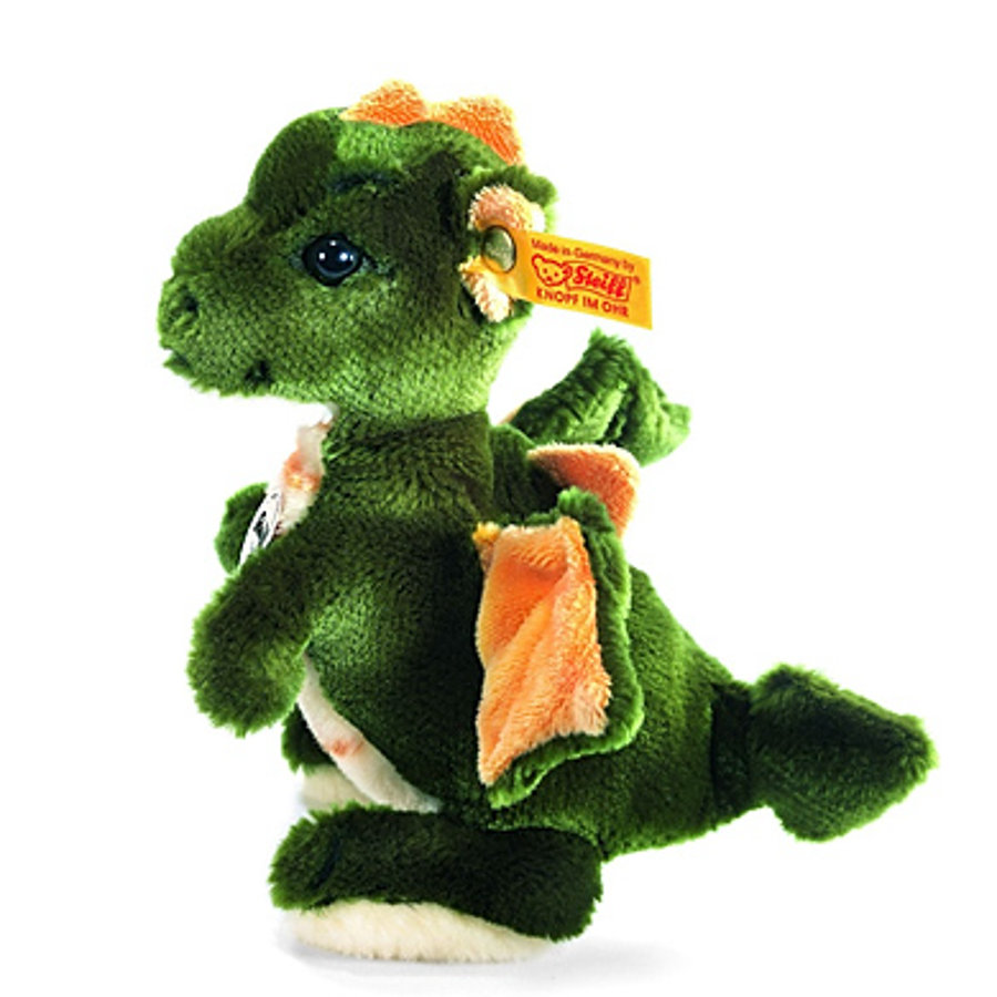 """STEIFF """"Raudi de jongensdraak"""" 17 cm groen, staand"""
