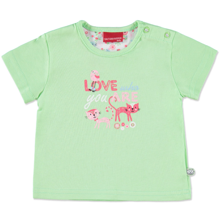 SALT AND PEPPER Girls Baby T-Shirt lime green