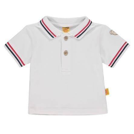 Steiff Chlapecké polo tričko s krátkým rukávem, bílé