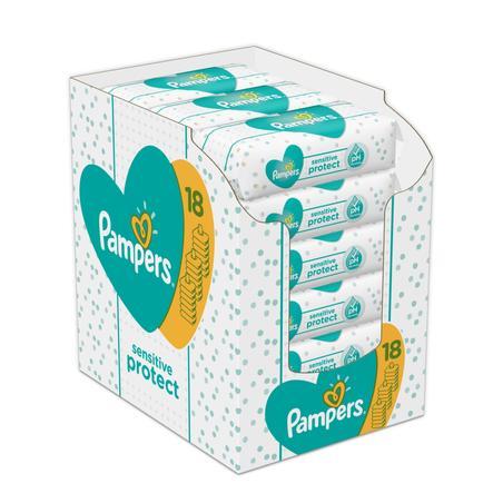 Pampers Feuchttücher Sensitive Vorteilspack 18 x 52 Stück (936 Feuchttücher)