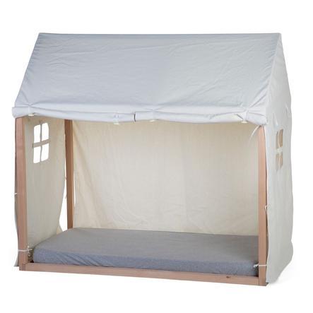CHILDHOME Housse de lit cabane blanc 70x140 cm