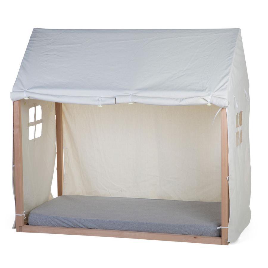 CHILDHOME Tenda per lettino a capanna Tipi bianca 70 x 140 cm