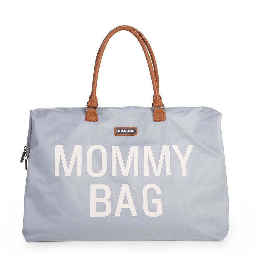 CHILDHOME Mommy Bag Groß Grey Off White