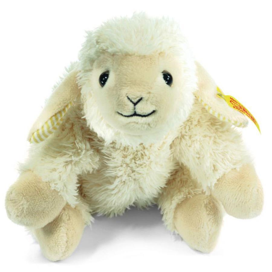Steiff Owieczka  Linda lężąća 16 cm, kolor kremowy