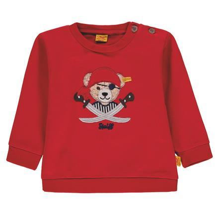Steiff Boys Sweatshirt, Pirat rot