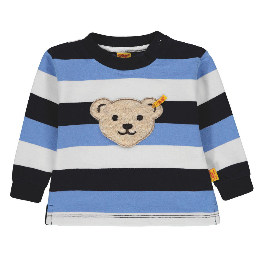 Steiff Boys Sweat-shirt à rayures bleues