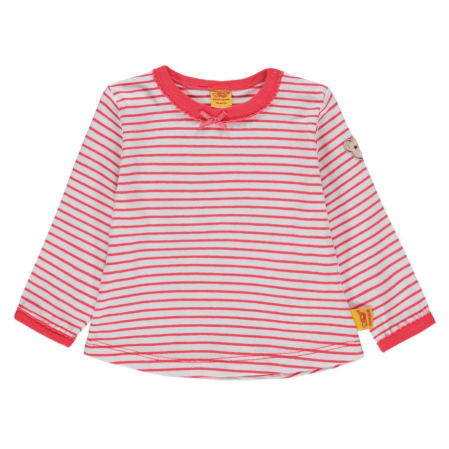 Steiff Girl koszulka z długim rękawem, paski czerwone.