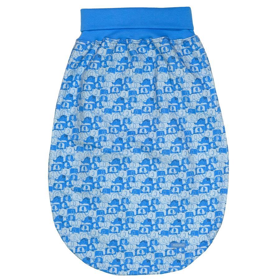 maxi mo sac à grenouillère éléphants bleu-azur-argent