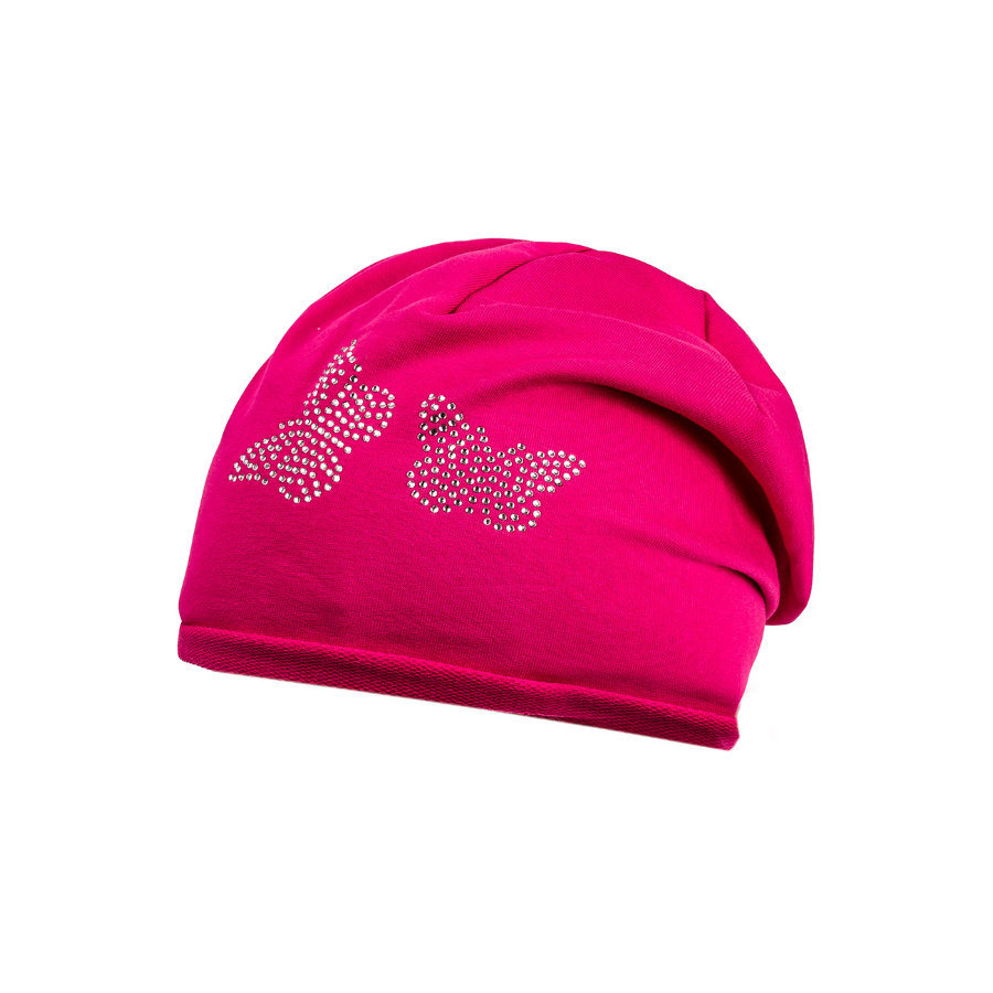 maximo Girl s Beanie butterfly dark pink