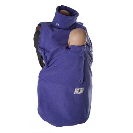 manduca Couverture porte-bébé cold weather insert iris foncé bouclé