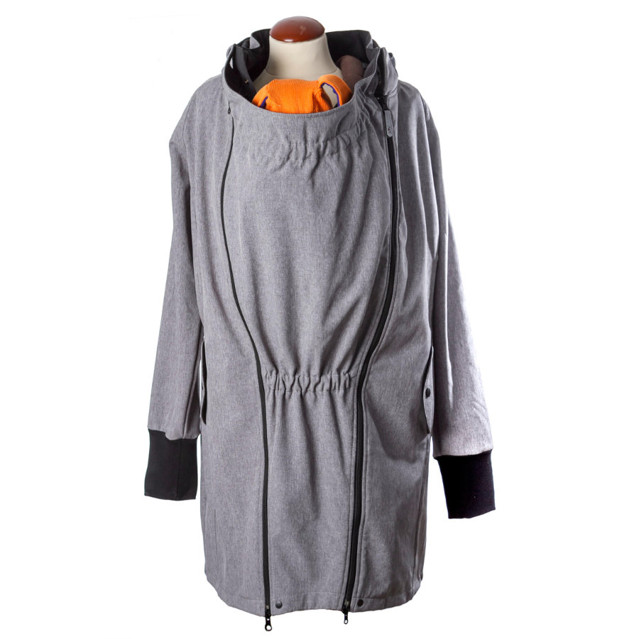 manduca SoftShell Light Coat Heather Grey