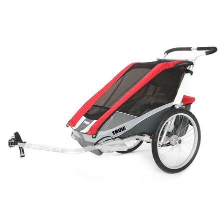 THULE Remolque para bicicleta Chariot Cougar 1 rojo