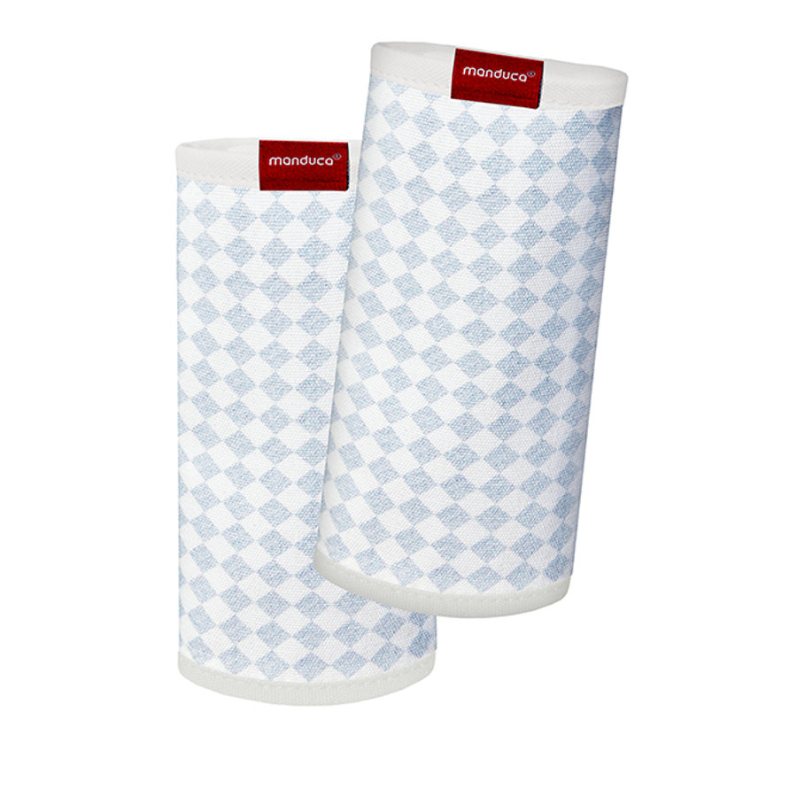 Manduca polstrování pásů Fumbee Bellybutton SoftCheck blue/print dvojité balení