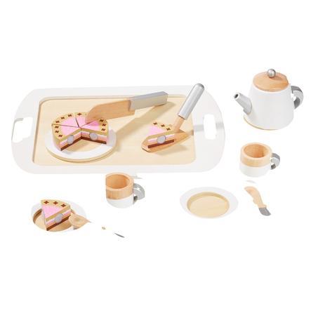 howa® Dînette enfant thé café bois 12 pièces