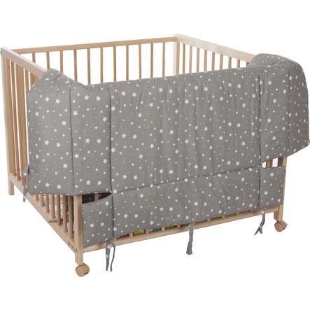 fillikid  marqueterie pour parc d'enfants étoiles grises 100 x 100 cm