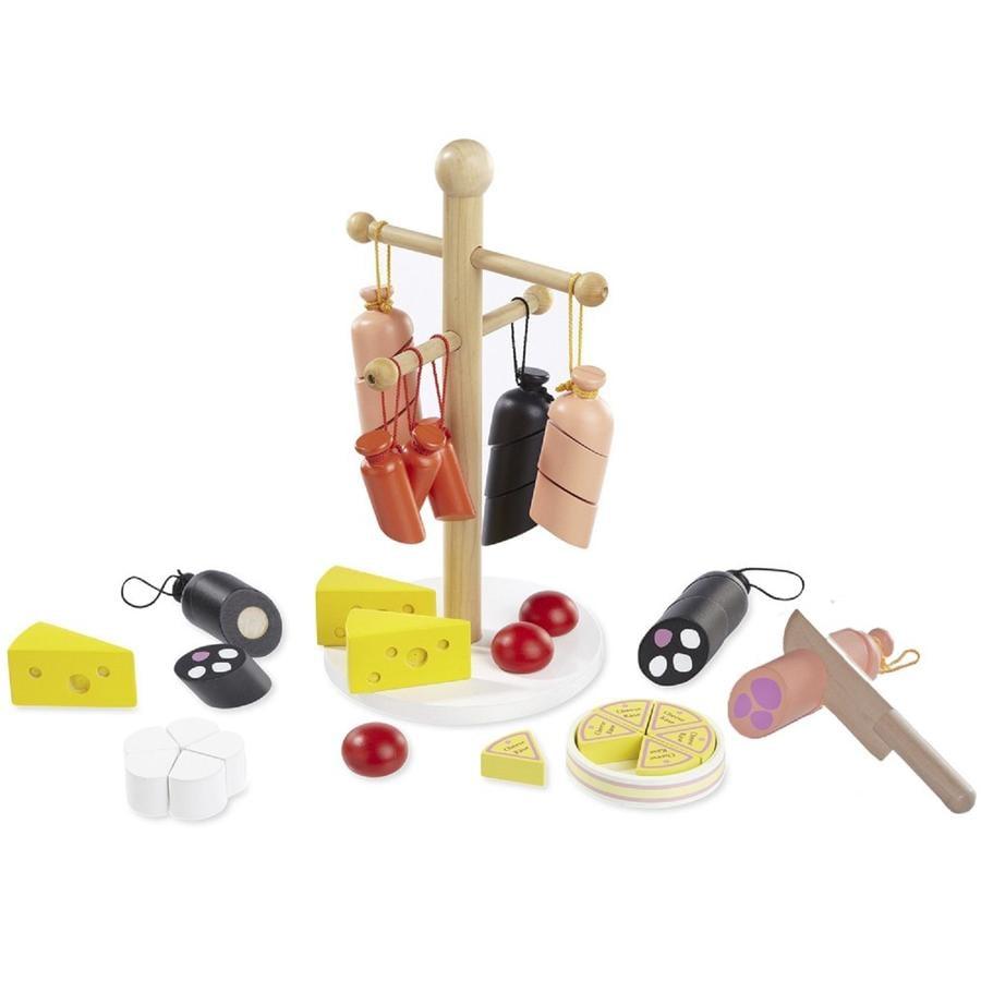 howa® Kit accessoires saucisses fromages pour marchande enfant bois