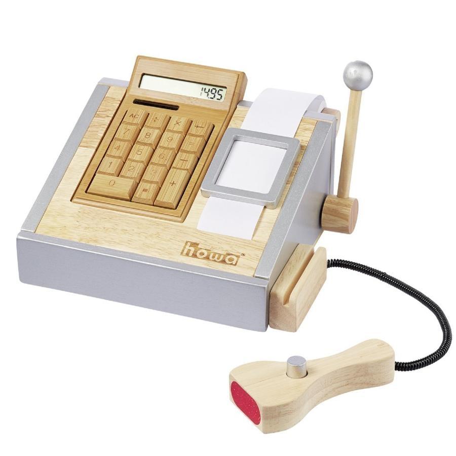howa® Caisse enregistreuse enfant, calculette bois