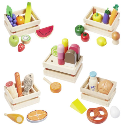 howa® Accessoires pour marchande enfant bois 35 pièces
