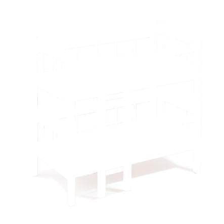 howa® Lit superposé pour poupée bois rose